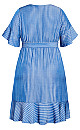 Lover Stripe Dress - blue