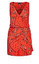 Bandana Dress - tomato