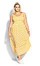 Geo Maxi Dress - golden