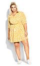 Mini Geo Dress - golden yellow