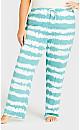 Plus Size Fun Sleep Pant - teal tie dye