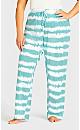 Plus Size Tie Dye Sleep Set -  teal