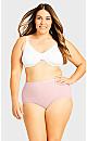 Plus Size Fashion Cotton Full Brief - ballet pink