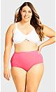 Plus Size Fashion Cotton Full Brief - coral