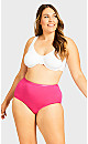 Plus Size Fashion Cotton Full Brief - hot pink