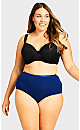 Plus Size Fashion Cotton Full Brief - navy