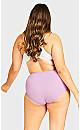 Plus Size Fashion Cotton Full Brief - lilac