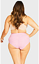 Plus Size Fashion Cotton Full Brief - sweet pink
