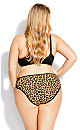 Plus Size Fashion Microfiber Hi Cut Brief - leopard