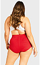 Plus Size Fashion Seamless Full Brief - scarlet