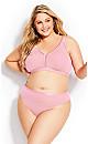 Plus Size Fashion Cotton Thong - sweet pink