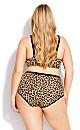 Plus Size Fashion Microfiber Full Brief - leopard