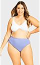 Plus Size Fashion Cotton Hi Cut Brief - lavender