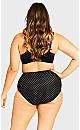 Plus Size Fashion Cotton Full Brief - black spot