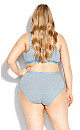 Plus Size Stripe Cotton Modern Brief blue