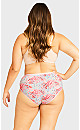 Plus Size Fashion Cotton Modern Brief - pink ditsy