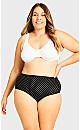 Plus Size Fashion Cotton Modern Brief -  black spot