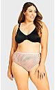 Plus Size Fashion Cotton Modern Brief - pink spot
