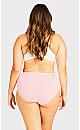 Plus Size Fashion Cotton Modern Brief - ballet pink