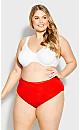 Plus Size Fashion Cotton Modern Brief - red
