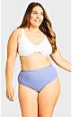 Plus Size Fashion Cotton Modern Brief - lavender