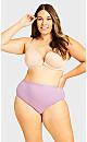 Plus Size Fashion Cotton Modern Brief - lilac