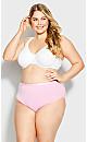Plus Size Fashion Cotton Modern Brief - pink