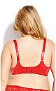Plus Size Fashion Plunge Bra - scarlet