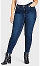 Plus Size Denim Woven Jean Dark Wash - average