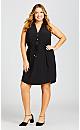 Plus Size Knit Dress - black