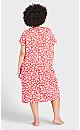 Plus Size Shadow Heart Sleep Shirt - red heart