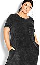 Cool T-Shirt Dress - black