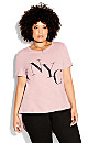 Cool Nyc Tee - dusty rose