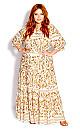 Nisha Gold Maxi Dress - ivory