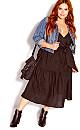 Sweet Sleeve Dress - black