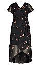 Petal Rain Maxi Dress - black