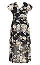 Aria Floral Maxi Dress - black
