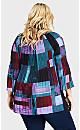 Plus Size Fairview Top - purple block