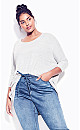 Plus Size Hunter Top - gray marle