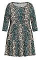 Plus Size Anya Print Dress - animal