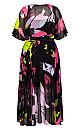 Colour Shock Maxi Dress - black