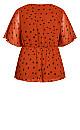 Kimono Spot Top - rust