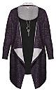 Plus Size Town Necklace Duet Tunic - purple
