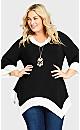 Plus Size Colorblock Tunic - black