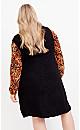 Plus Size Kelsey Vest - black