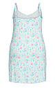Plus Size Floral Chemise - mint