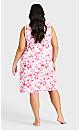 Plus Size Tie Dye Chemise - pink tie dye