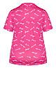 Plus Size Button Sleep Top - pink sleep