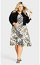 Plus Size Cross Back Water Color Dress Natural