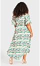 Plus Size Viv Wrap Print Maxi Dress - green